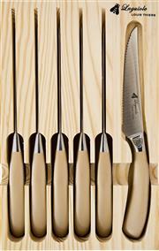 Sale 9080K - Lot 95 - Laguiole by Louis Thiers Mondial 6-Piece Steak Knife Set - rose gold finish
