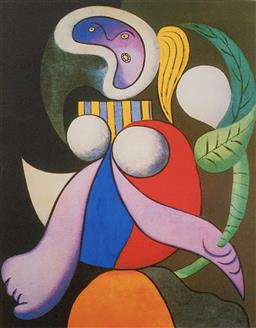 Sale 9108A - Lot 5070 - Pablo Picasso (1881 - 1973) - Woman with Flower 43 x 30 cm (sheet)