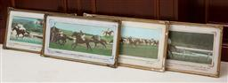 Sale 9155H - Lot 98 - A set of four gilt framed photographic prints depicting race horses including Ashtray, Weegift and Warrangi. Each frame size 22cm x...