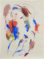 Sale 8301A - Lot 27 - Anne Hall (1945 - ) (2 works) - Nude Studies 76 x 56cm