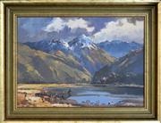 Sale 8309A - Lot 70 - Aston Greathead (1921 - 2012) - Untitled, 1971 (New Zealand Landscape) 37.5 x 53cm
