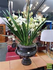 Sale 8469 - Lot 1027 - Urn with Faux Plants