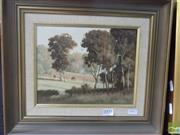 Sale 8513 - Lot 2005 - Michael Taylor Near Cowra, N.S.W, oil on board, 18.5 x 24cm, signed lower right