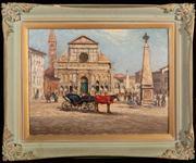 Sale 8590A - Lot 10 - Will Ashton - Square in Venice 45 x 59cm
