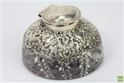 Sale 8630 - Lot 81 - Hardy Brothers Sydney Silver Topped Inkwell