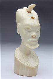 Sale 8662 - Lot 13 - African Ivory Head Of A Man AF