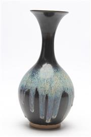 Sale 8685 - Lot 83 - Black and Blue Drip Glaze Vase (H 28cm)