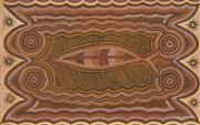 Sale 8718 - Lot 513 - Leo Melpi Maru (1935 - ) - Untitled, 1990 natural pigments on linen
