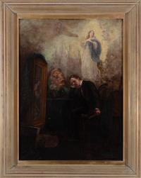 Sale 8934H - Lot 71 - Alfred James Daplyn, The Australian Artists Dream of Europe, oil on canvas, signed lower right, 77 x 56 cm. Provenance: Private coll...