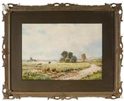 Sale 8945 - Lot 2039 - George Stanfield Walters (1838 - 1924) - Pastoral Scene 24 x 34.5 cm (frame: 41 x 50 x 3)