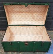 Sale 8979 - Lot 1073 - Rustic Painted Trunk (h:48 x w:88 x d:48)
