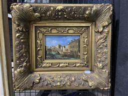 Sale 9113 - Lot 2014 - J Smith Yesteryear Scene of Venice oil on panel 38 x 43cm signed