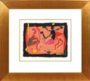 Sale 8794A - Lot 5016 - Marino Marini (1901 - 1980) - Chevaux et Cavaliers lll, 1972 38.5 x 49.5cm