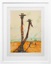 Sale 8286 - Lot 526 - John Olsen (1928 - ) - Mt. Kenya 65 x 47.5cm