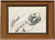 Sale 8286 - Lot 554 - Donald Friend (1915 - 1989) - Youth Resting 29 x 43cm