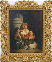 Sale 8415 - Lot 572 - Giuseppe Mazzolini (1806 - 1876) - Mother and Children 60 x 45.5cm