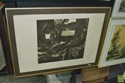 Sale 8425T - Lot 2023 - Ray Crooke (1922 - 2015) - Untitled, 1977 (Island Leisure) 40.5 x 43.5cm