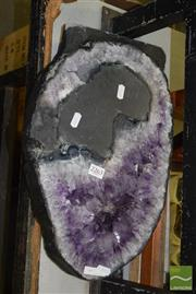 Sale 8509 - Lot 2263 - Dark Amethyst Polished Piece