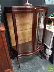 Sale 8554 - Lot 1016 - Serpentine Front Display Cabinet