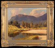 Sale 8590A - Lot 42 - Rubery Bennett - Mountain Top 37 x 44.5cm