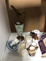 Sale 8802 - Lot 115 - A miniature porcelain latrine with other ceramics incl. jasper ware