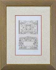 Sale 8807 - Lot 2088 - Jacques Androuet Du Cerceau (1510 - c.1585) (4 works) - Architectural & Interior Plans each 32 x 22.5cm