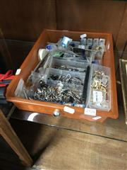 Sale 8819 - Lot 2324 - Tray of Watch Parts & Tools