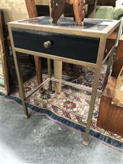 Sale 8822 - Lot 1813 - Pair of Metal Framed Bedsides