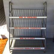 Sale 8878T - Lot 12 - Australian Vintage Metal 4 Shelf Wine Rack, Suitable for Shoes, Dimensions - 107cm High x 79cm Wide x 46cm Depth