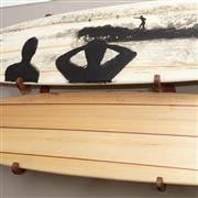 Sale 8904H - Lot 41 - Wooden surfboard racks to hold two surfboards