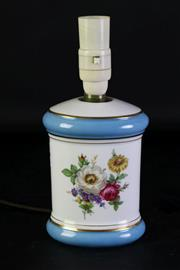 Sale 8977 - Lot 25 - A Bavarian West German Ceramic Table Lamp (h:26cm)