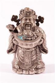 Sale 9010D - Lot 798 - Cast Metal Elder Figure with Silvered Finish (H:20cm)