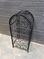 Sale 9034 - Lot 1087 - Metal Cage Form Wine Rack (H:90 W:42 D:35cm)