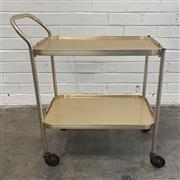 Sale 9063 - Lot 1049 - Anodized Drinks Trolley (h:51 x w:67 x d:36cm)