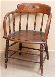Sale 9071H - Lot 67 - An oak captains chair