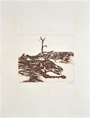 Sale 8309A - Lot 19 - Sidney Nolan (1917 - 1992) - Untitled (Carcass) 25 x 29.5cm