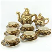 Sale 8332C - Lot 26 - Satsuma Tea Setting for Six Persons