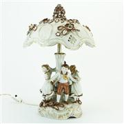 Sale 8387 - Lot 31 - Dresden Ring Around the Rosie Lamp