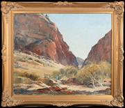 Sale 8590A - Lot 5 - Robert Johnson - Central Australian Landscape 50 x 60cm