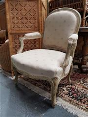 Sale 8680 - Lot 1063 - Timber Framed Fabric Upholstered Armchair