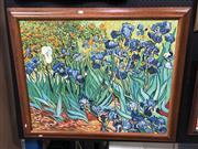 Sale 8797 - Lot 2003 - After Van Gogh - Irises, oil on canvas