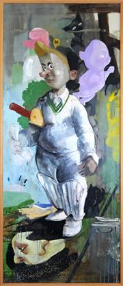 Sale 8858H - Lot 37 - McLean Edwards (1972 - ) - Cricketer #1 - 2002 204 x 87cm