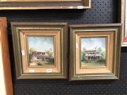 Sale 8856 - Lot 2089 - Diana Lane (2 works) Residental Studies, oils, both Signed, Both 14.5x12 -