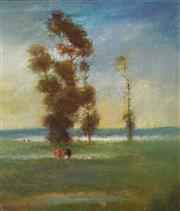 Sale 8938 - Lot 571 - Frederick Leist ( 1878 - 1945) - Morning Pastures 34 x 29.5 cm