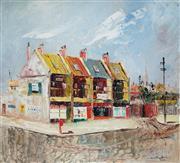 Sale 8947 - Lot 525 - John Cunningham (1926 - 1998) - Terrace Houses, 1954 44 x 51 cm (frame: 69 x 55 x 6 cm )