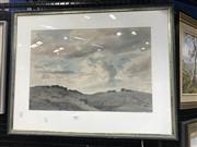 Sale 8990 - Lot 2026 - Robert Campbell, Gray Clouds, Watercolour, SDLL, 36x53cm