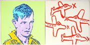 Sale 9013 - Lot 567 - David Bromley (1960 -) - Journeys to Come, 1993 (diptych) 85 x 172 cm (frame 89 x 176 x 4 cm)