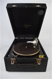 Sale 8381 - Lot 153 - Vintage Columbia Turntable (handle missing)