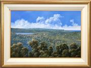 Sale 8427 - Lot 505 - Michael Taylor (1937 - ) - Looking North over Narrabeen Lake 58 x 87cm