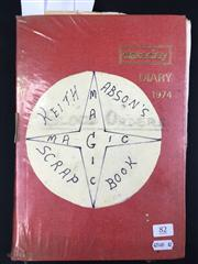 Sale 8539M - Lot 82 - Keith Absons Magic Scrapbook, book no. 4. Compiled 1/1/1978. More clippings, tricks, anecdotes, includes excerpt from The Conjur...